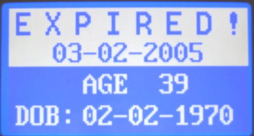 Expired ID Screen